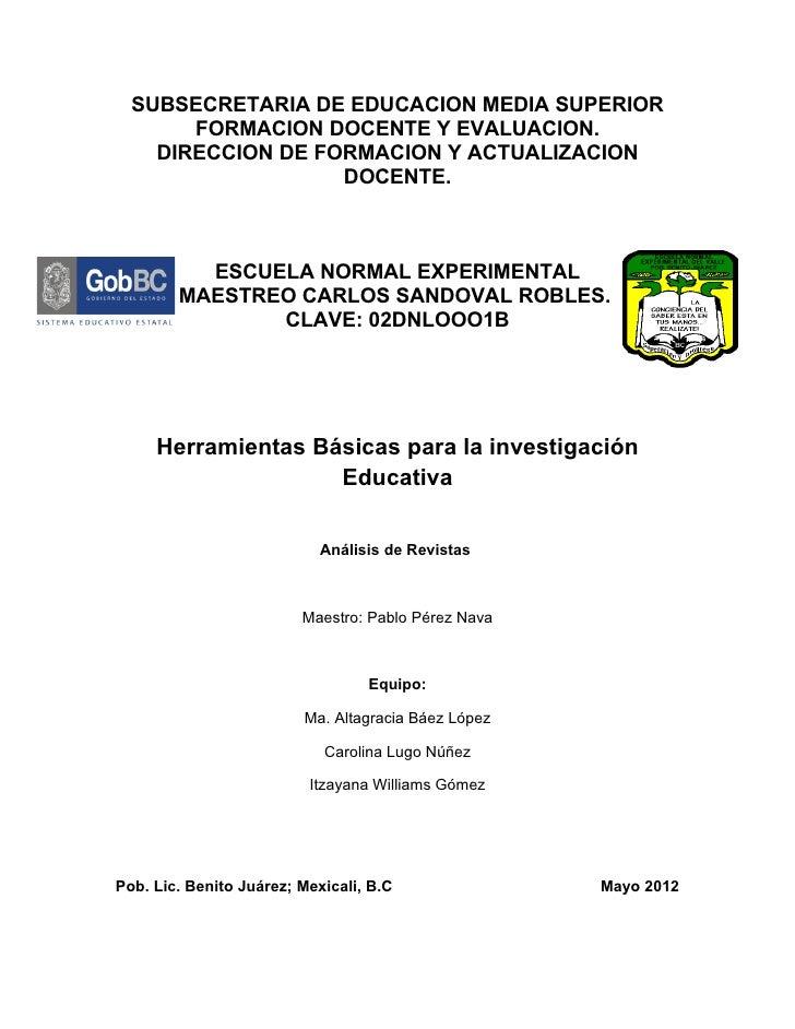 SUBSECRETARIA DE EDUCACION MEDIA SUPERIOR       FORMACION DOCENTE Y EVALUACION.    DIRECCION DE FORMACION Y ACTUALIZACION ...