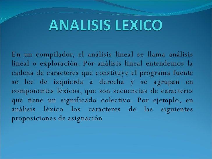 compiladores lexico: