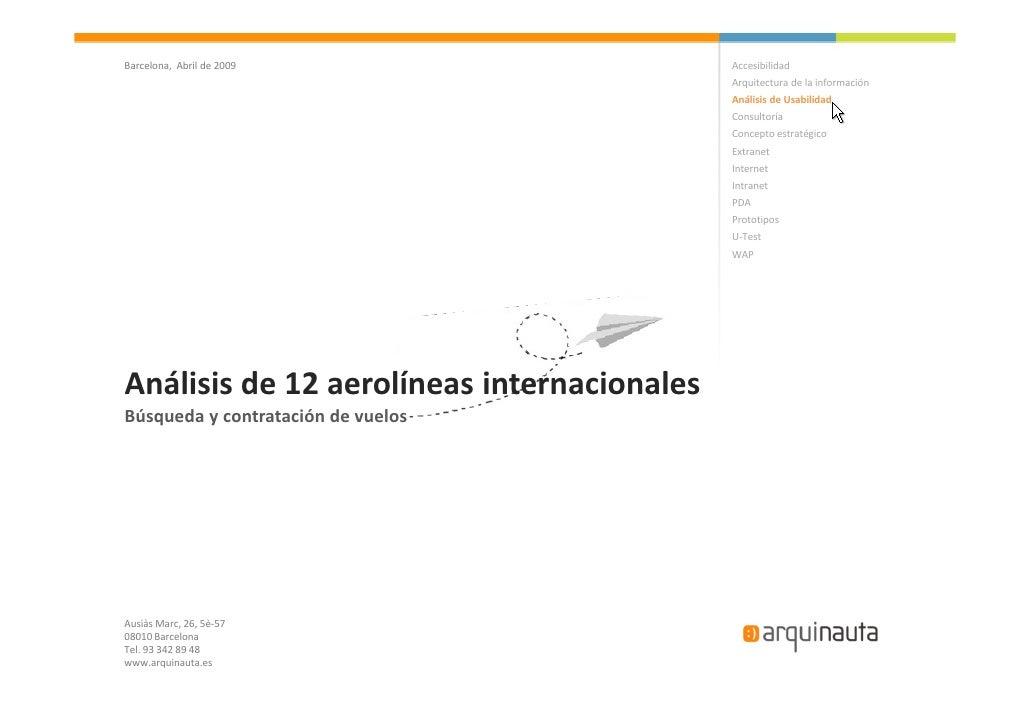Análisis 12 Aerolíneas Internacionales