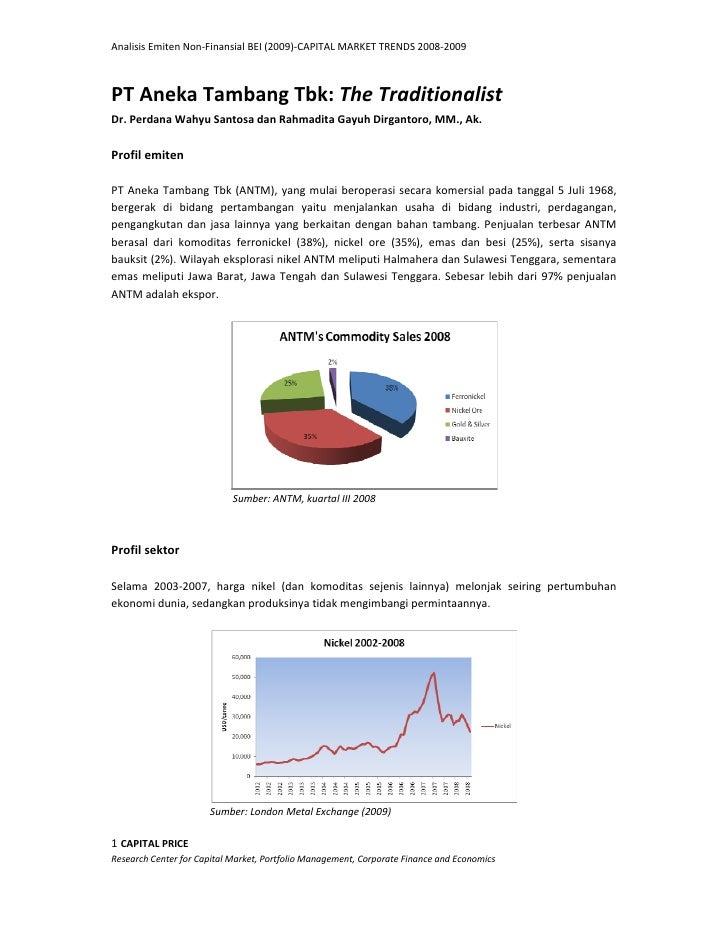 Analisis Fundamental PT Antam, Tbk