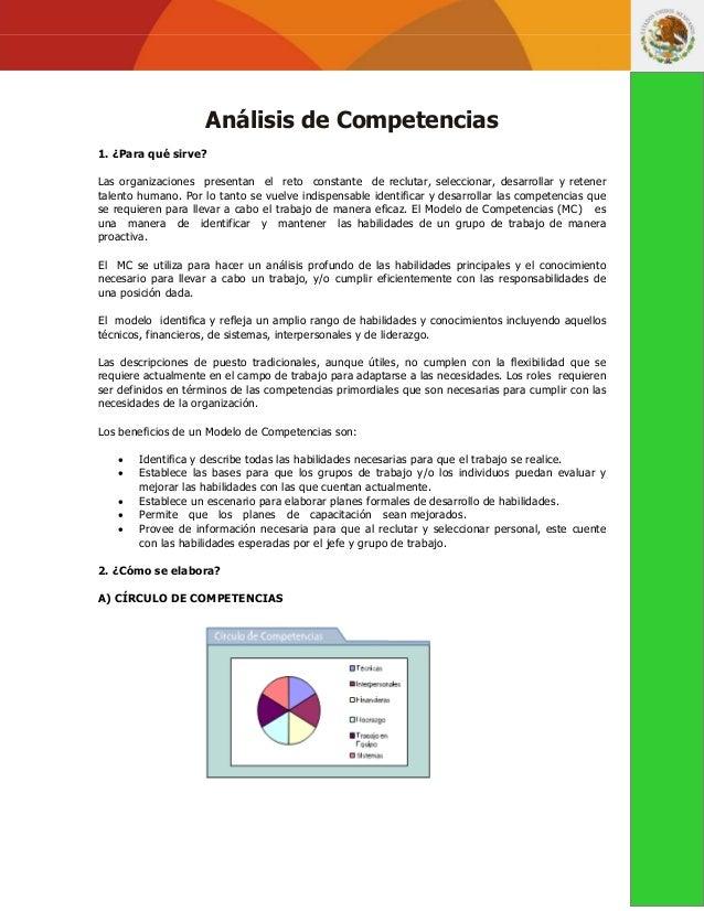 Análisis de Competencias1. ¿Para qué sirve?Las organizaciones presentan el reto constante de reclutar, seleccionar, desarr...