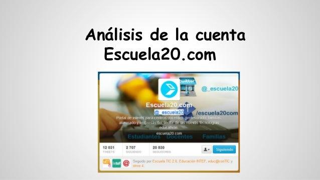 Análisis de la cuenta Escuela20.com @_escuela20