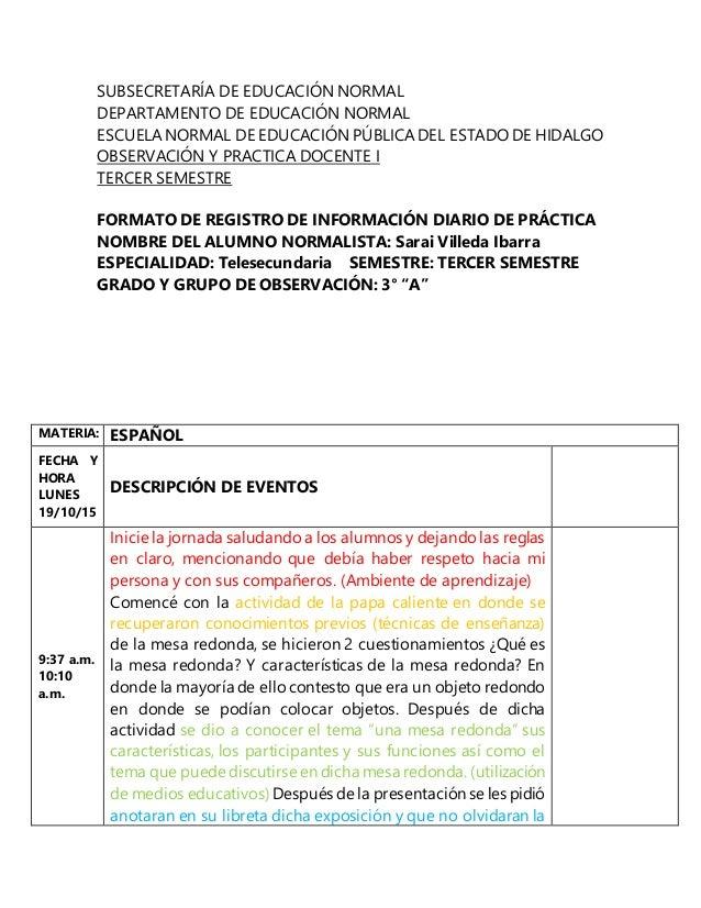 SUBSECRETARÍA DE EDUCACIÓN NORMAL DEPARTAMENTO DE EDUCACIÓN NORMAL ESCUELANORMAL DE EDUCACIÓN PÚBLICADEL ESTADO DE HIDALGO...