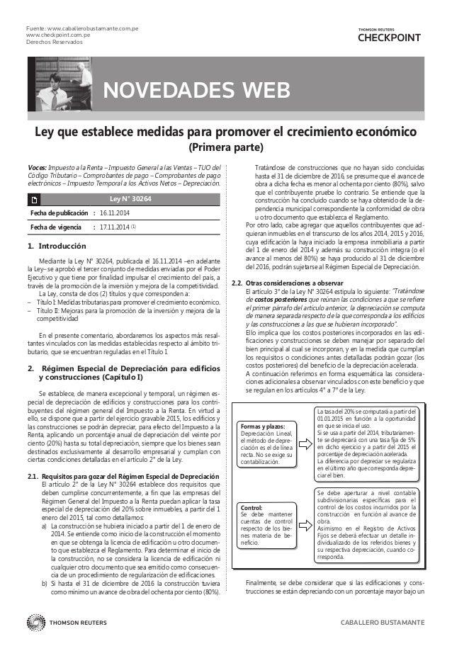 Fuente: www.caballerobustamante.com.pe www.checkpoint.com.pe Derechos Reservados CABALLERO BUSTAMANTE Ley que establece me...