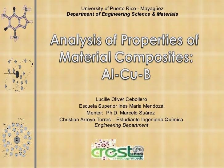 Analisis de las propiedades del material compuesto al cu b