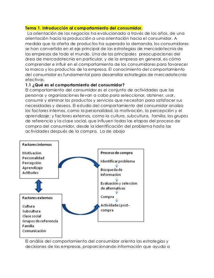Tema 1. Introducción al comportamiento del consumidor. La orientación de los negocios ha evolucionado a través de los años...
