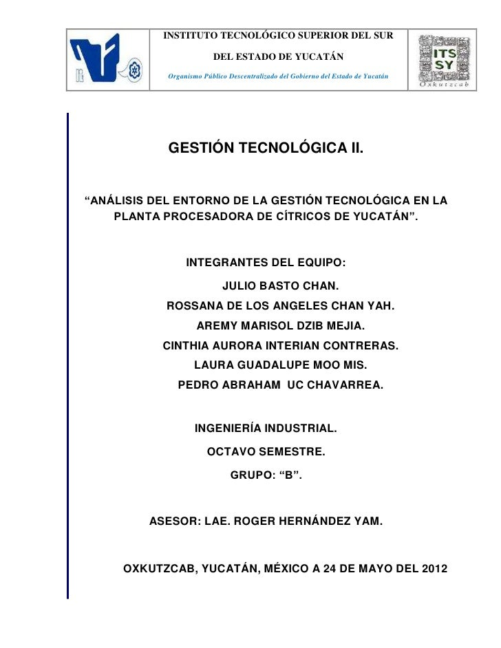 INSTITUTO TECNOLÓGICO SUPERIOR DEL SUR                         DEL ESTADO DE YUCATÁN            Organismo Público Descentr...