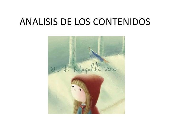 ANALISIS DE LOS CONTENIDOS