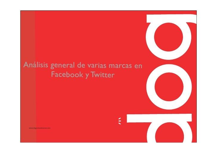 Análisis general de varias marcas en          Facebook y Twitter      www.dogcomunicacion.com