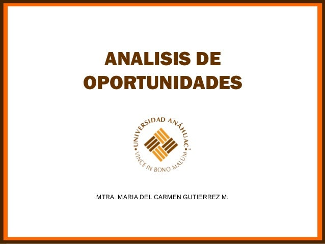 Analisis de oportunidades