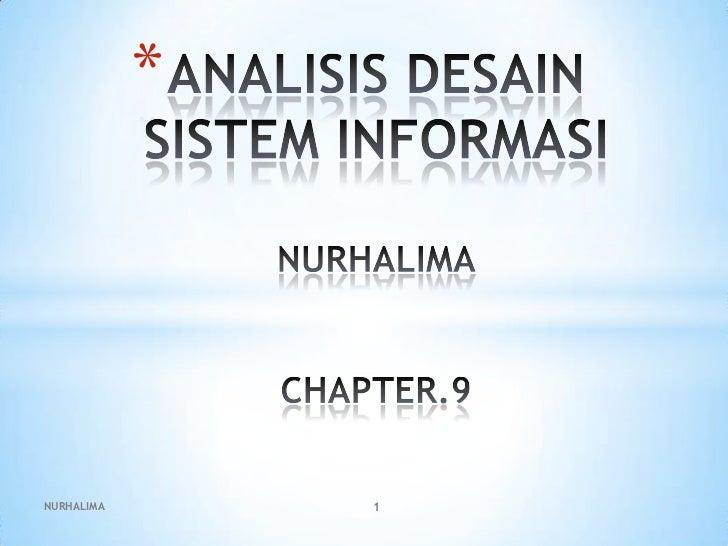 Analisis desain sistem informasi ppt.9