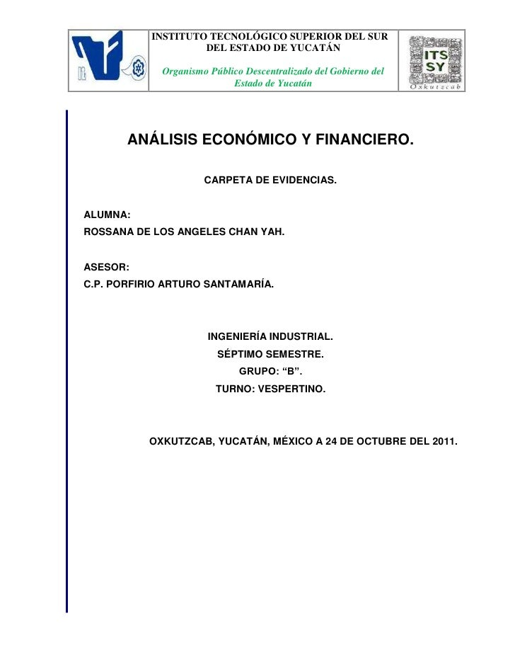 Analisis economico y financiero