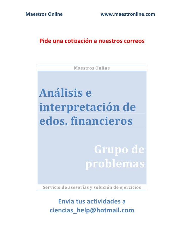 Analisis e interpretacion de estados financieros fi04001 2012