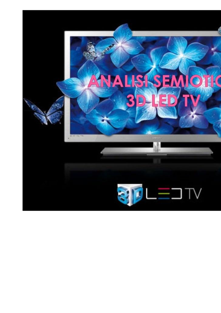 Analisi semiotica Led tv 3D