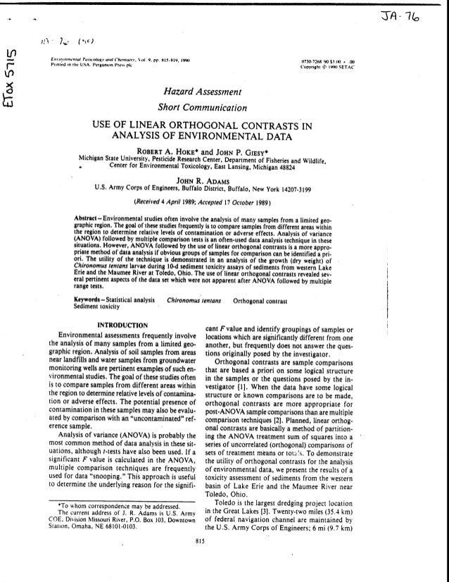 Analisis environtmental data