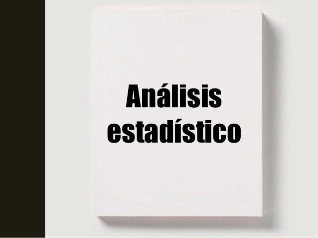 Análisisestadístico