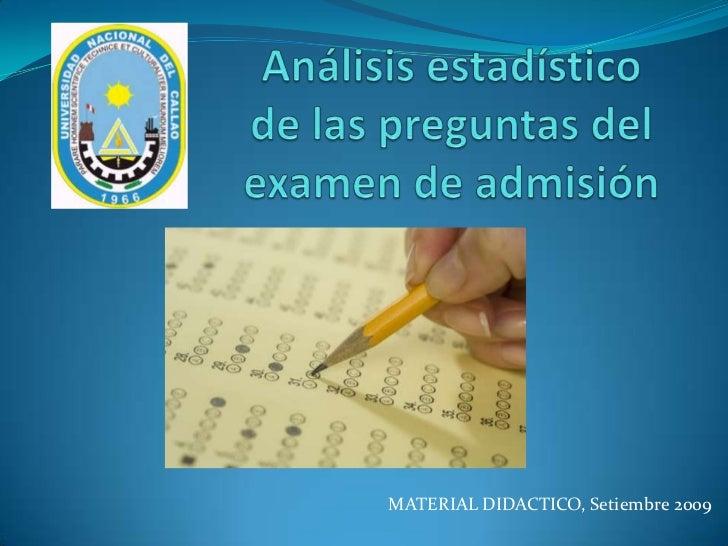 Examen de admision UNAC