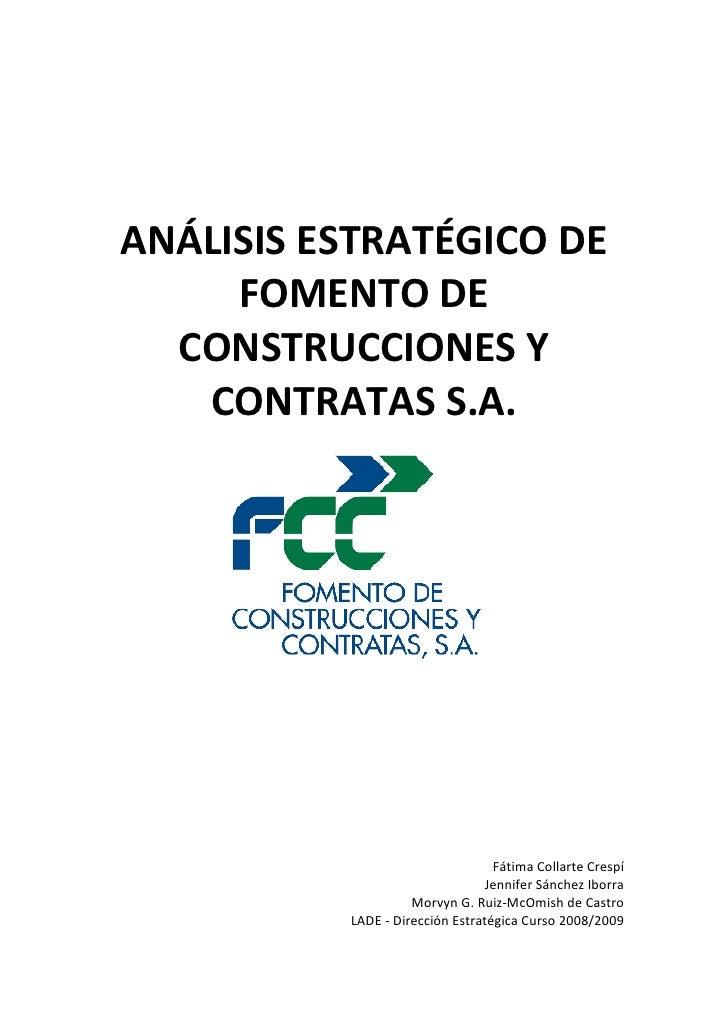 Análisis Estratégico FCC - Dirección Estratégica