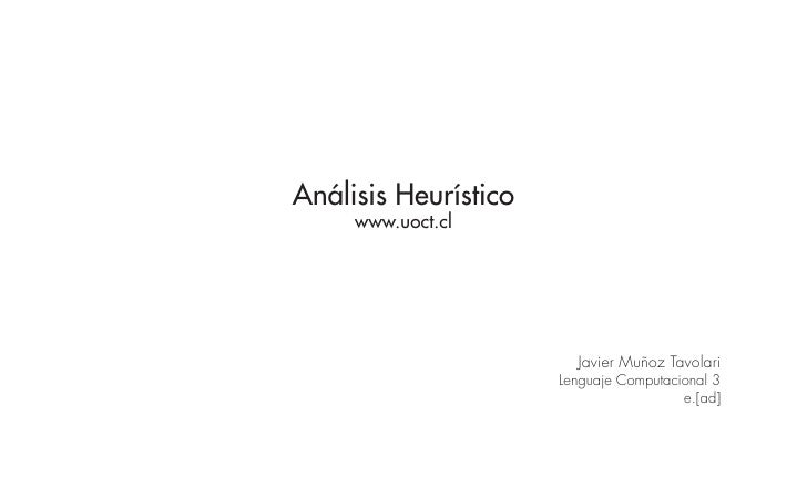 Analisis Heuristico www.uoct.cl