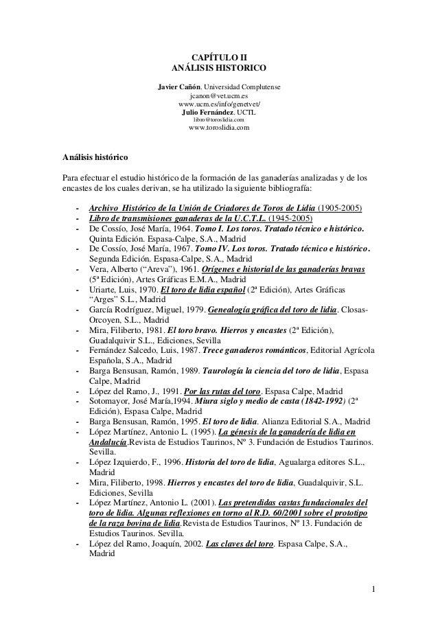 CAPÍTULO II                               ANÁLISIS HISTORICO                           Javier Cañón. Universidad Compluten...