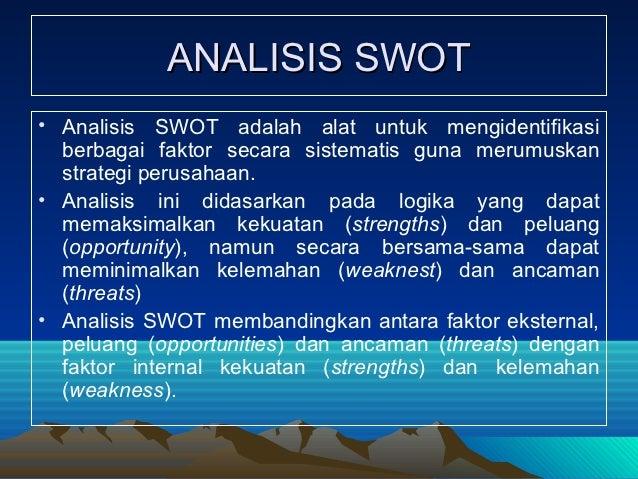 analisis lingkungan perusahaan