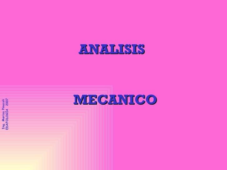 ANALISIS  MECANICO