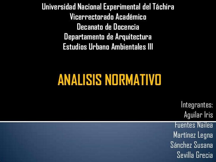 Universidad Nacional Experimental del Táchira <br />Vicerrectorado Académico <br />Decanato de Docencia <br />Departamento...