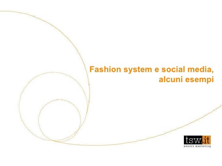 Fashion system e social media