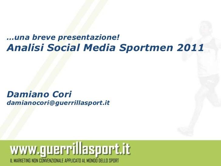 Analisi social media sportmen 2011