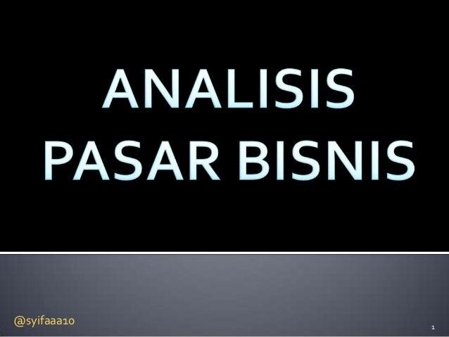 Analisis pasar bisnis