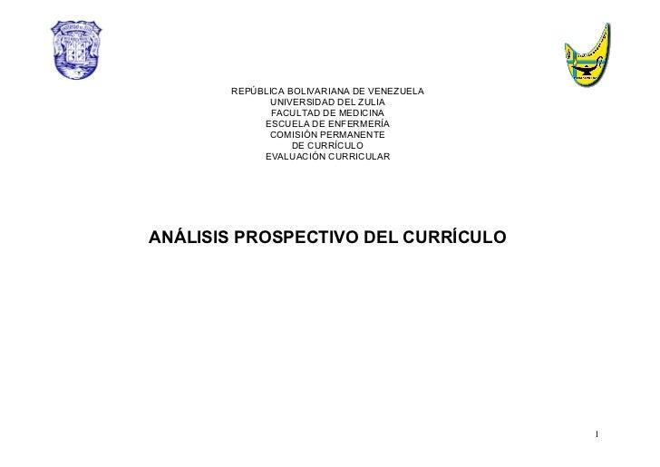 Analisis prospectivo del curriculo2006