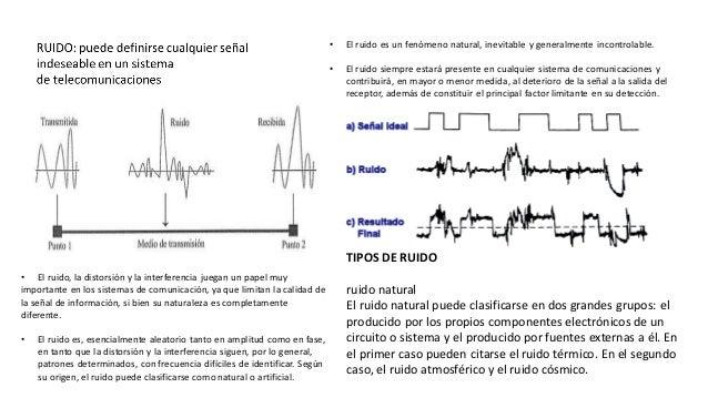 • El ruido es un fenómeno natural, inevitable y generalmente incontrolable. • El ruido siempre estará presente en cualquie...