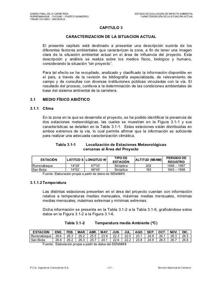 DISEÑO FINAL DE LA CARRETERA                                               ESTUDIO DE EVALUACIÓN DE IMPACTO AMBIENTALRURRE...
