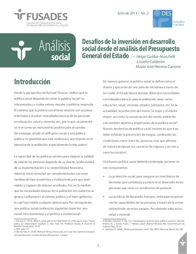 — Helga Cuéllar-Marchelli  Lissette Calderón  María José Herrera Camino  Análisis  social  Desafíos de la inversión en des...