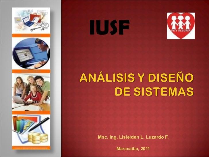 Analisis y diseño de sistemas iusf
