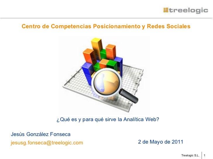 Treelogic S.L. Centro de Competencias Posicionamiento y Redes Sociales Jesús González Fonseca [email_address] 2 de Mayo de...