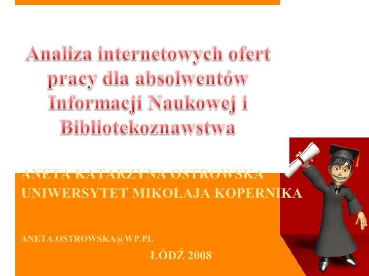 Analiza Internetowych Ofert Pracy972003