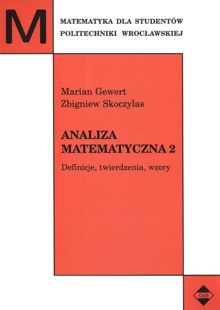 Analiza - definicje i twierdzenia