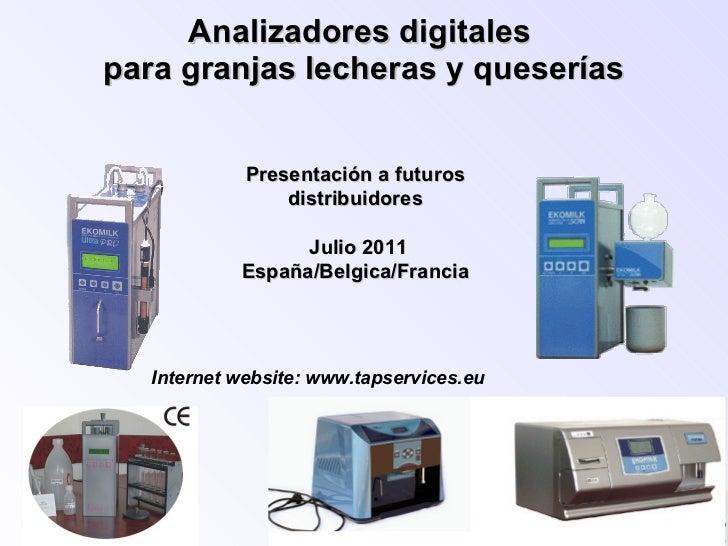 Analizadores digitales Ekomilk para granjas lecheras y queserias