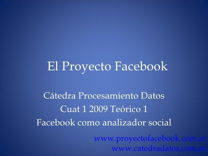 Facebook como analizador social