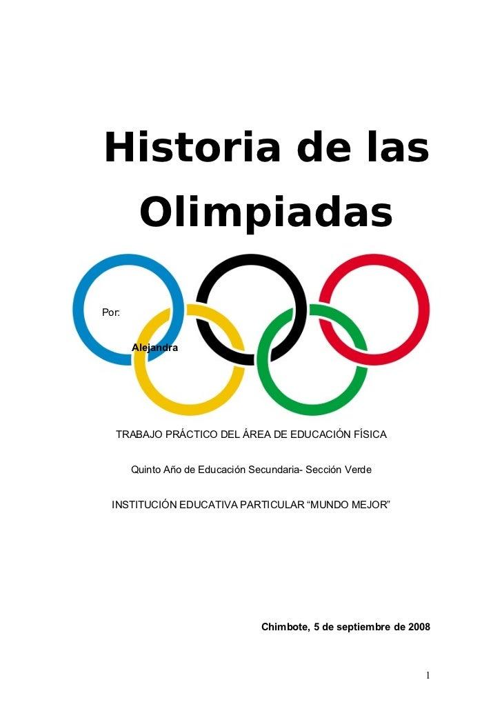 La historia de las olimpiadas for Caracteristicas de la oficina wikipedia