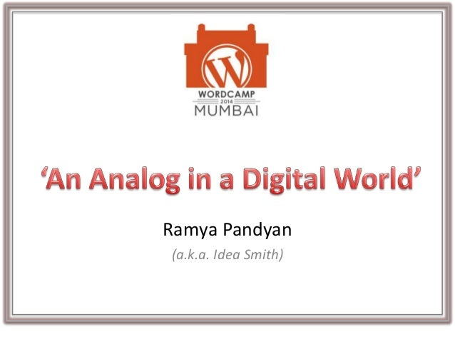 Ramya Pandyan (a.k.a. Idea Smith)