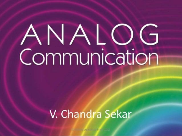 V. Chandra Sekar © Oxford University Press 2013