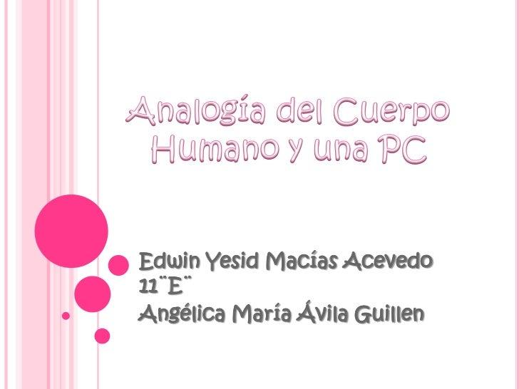 Analogia del cuerpo humano y una pc