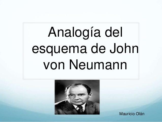 Analogía del esquema de John von Neumann Mauricio Olán