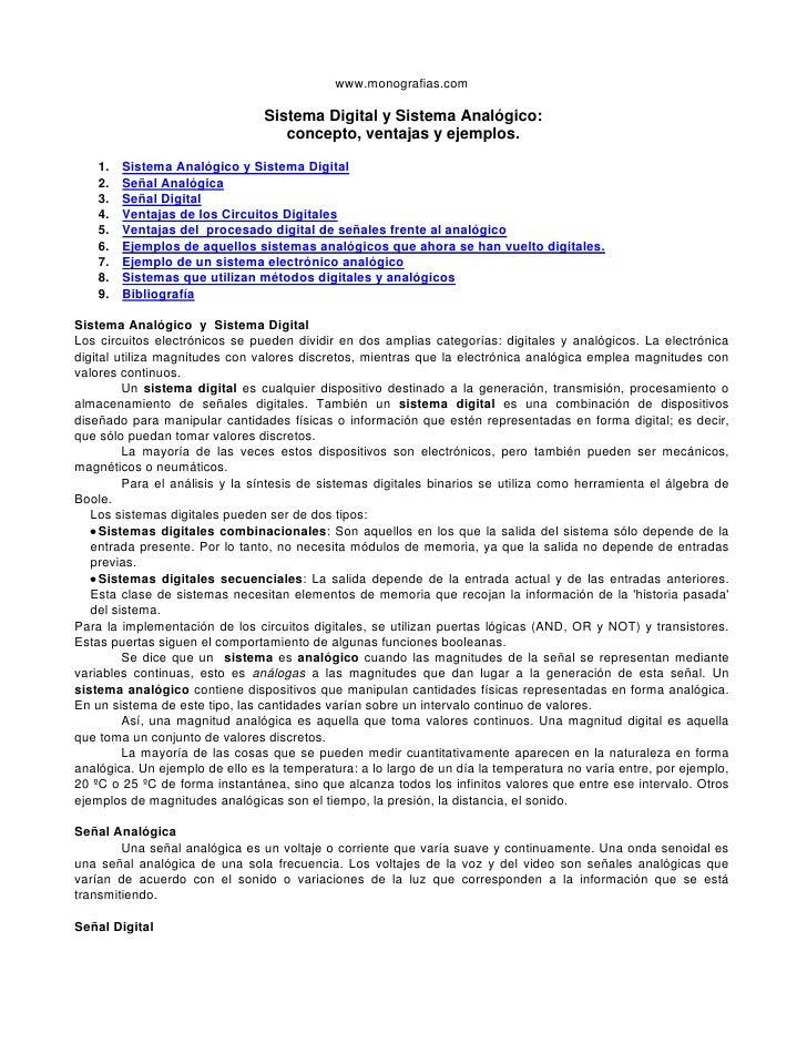 www.monografias.com                                  Sistema Digital y Sistema Analógico:                                 ...