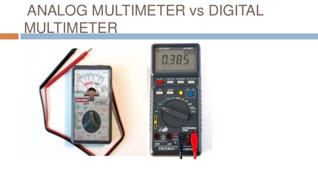 Digital Analog Multimeter : Analog multimeter and ohmmeter