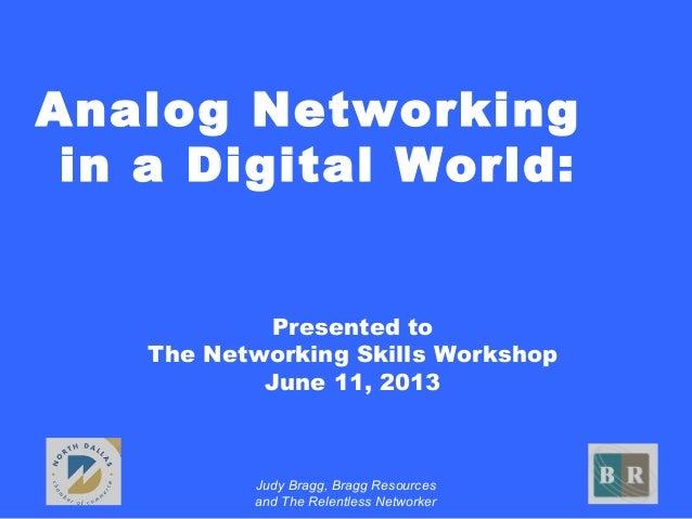 Analog versus Digital Networking
