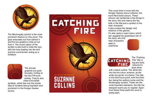 Book Cover Design Analysis : Hunger games catching fire book cover analysis