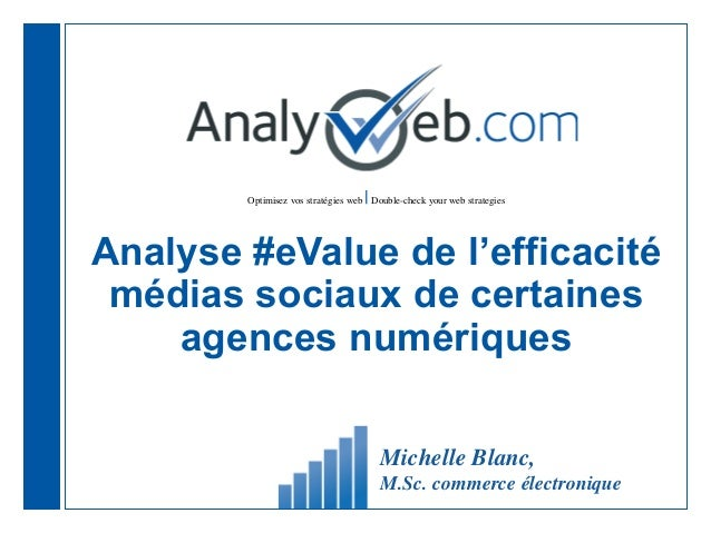 Optimisez vos stratégies web |Double-check your web strategies Analyse #eValue de l'efficacité médias sociaux de certaines...